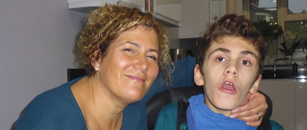Dylan with mum. Without Haven House they would not have coped as a family.